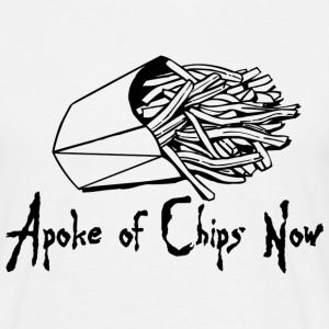 White A Poke of Chips Now Men's T-Shirts - Men's T-Shirt