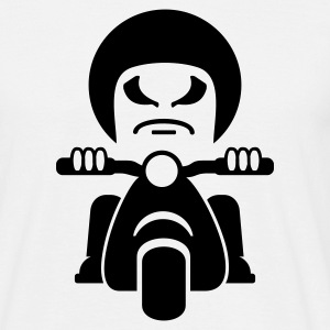 Blanco tio mal en una motocicleta / bad dude on a motorcycle  (1c) Camisetas - Camiseta hombre