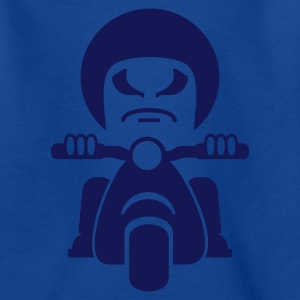 Kungsblå dålig Rocker på en motorcykel / bad dude on a motorcycle  (1c) Barn-T-shirts - T-shirt tonåring