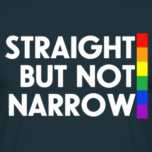 Navy Straight but not narrow Men's T-Shirts - Men's T-Shirt