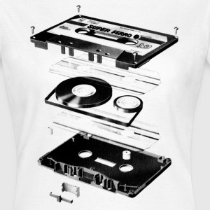 Kassette Schwarz - Tape - Audio - 80 - Frauen T-Shirt