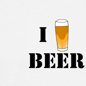 I love beer white tshirt - Men's T-Shirt