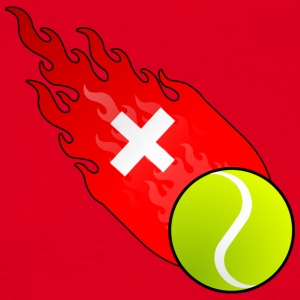 Fireball Tennis Sveits - T-skjorte for menn
