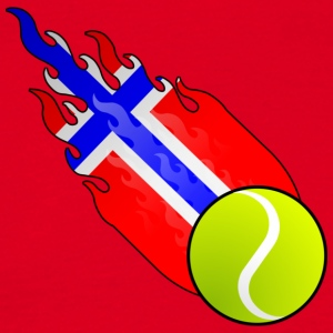 Fireball Tennis Norwegen - Männer T-Shirt