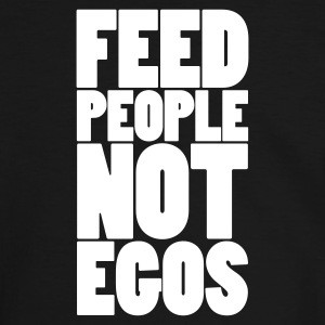 Noir/blanc feed people not egos T-shirts - T-shirt contraste Homme