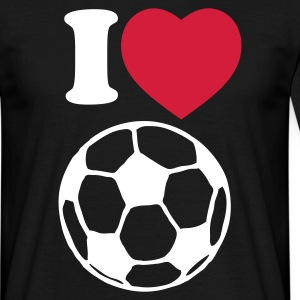 I love football - T-shirt herr