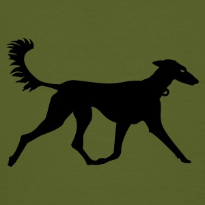 Mosgroen windhond / greyhound (1c) T-shirts - Mannen Bio-T-shirt