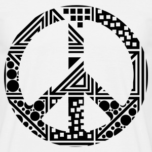 Blanc Peace T-shirts - T-shirt Homme
