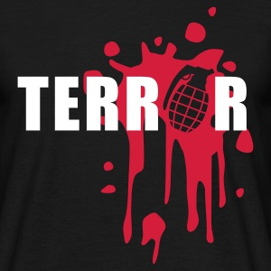 Black terror_2_2c Men's T-Shirts - Men's T-Shirt
