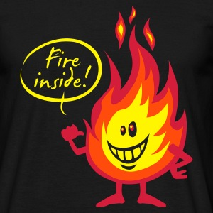 fire inside - T-shirt Homme