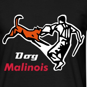Noir malinois defence T-shirts - T-shirt Homme
