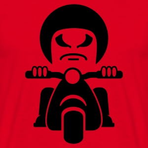 Red Rocker auf dem Motorroller / bad dude on a motorcycle  (1c) Men's T-Shirts - Men's T-Shirt