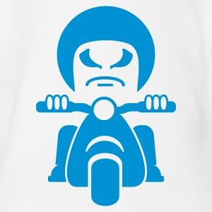 Bianco Rocker male su una moto / bad dude on a motorcycle  (1c) Body neonato - Body per neonato