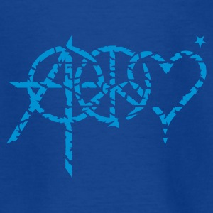 Royal blue anarchy peace love (grunge, 1c) Kids' Shirts - Teenage T-shirt