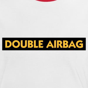 Wit/rood Double Airbag (2c) T-shirts - Vrouwen contrastshirt