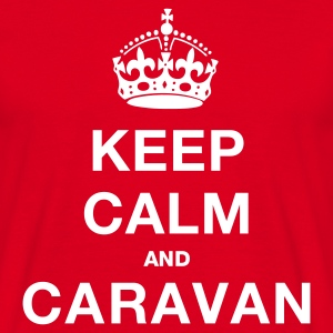Red keep_calm_caravanblk Men's T-Shirts - Men's T-Shirt