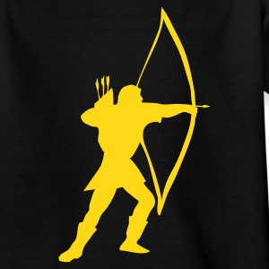 Black longbow archer medieval  Kids' Shirts - Teenage T-shirt