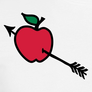 White arrow butt apple heart shot Men's T-Shirts - Men's T-Shirt