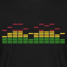 Black EQ EQUALIZER FREQUENZ BEAT MUSIK SOUND TECHNO ELECTRO MIXER DJ Men's T-Shirts