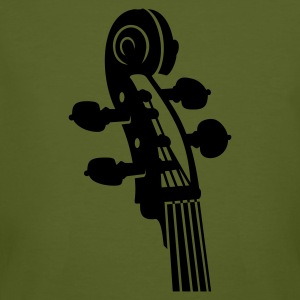 Moss green Cello Schnecke / Cello neck (B, 1c) Men's T-Shirts - Men's Organic T-shirt