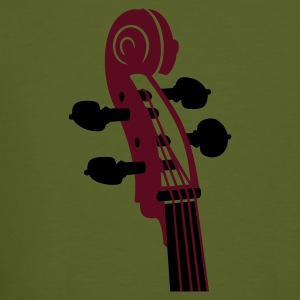 Moss green Cello Schnecke / Cello neck (2c) Men's T-Shirts - Men's Organic T-shirt