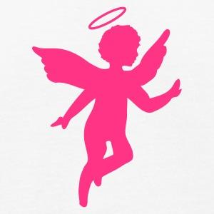 blanc-petit-ange-avec-une-aureole-t-shirts-t-shirt-bio-homme