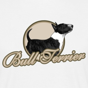 White Bullterrier circled Men's T-Shirts - Men's T-Shirt