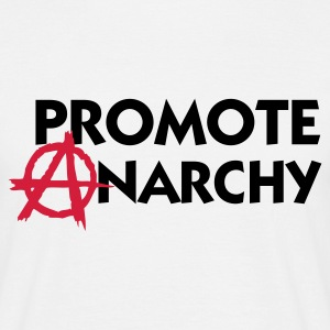 Hvit Promote Anarchy (2c) T-skjorter - T-skjorte for menn