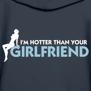 Navy Hotter than your Girlfriend (2c) Hoodies & Sweatshirts - Women's Premium Hoodie