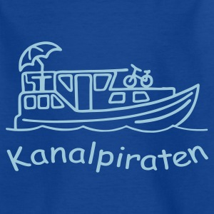 Navy Kanalpiraten - Hausboot Kinder T-Shirts - Teenager T-Shirt