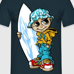 surfeur and his board - T-shirt Homme