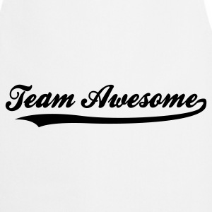 White Team Awesome (1c)  Aprons - Cooking Apron