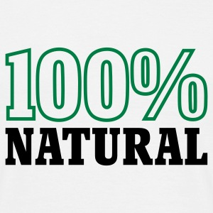 Weiß 100% Natural © T-Shirts - Mannen T-shirt