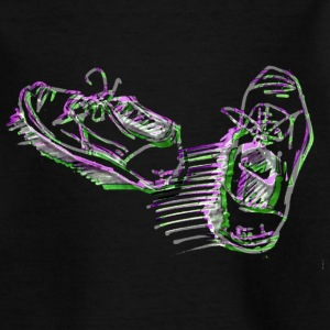 Schuhe neon - Teenager T-Shirt