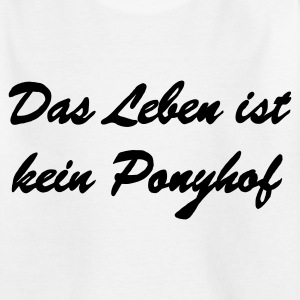 ponyhof_ohne_pony__final Kinder T-Shirts - Teenager T-Shirt