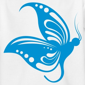 White butterfly1 1 color Kids' Shirts - Teenager-T-shirt