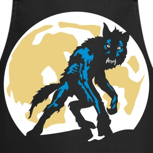 Black werwolf_a_3c  Aprons - Cooking Apron