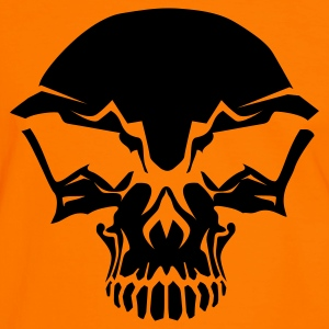 Orange/black totenkopf skull pirat Men's T-Shirts - Men's Ringer Shirt