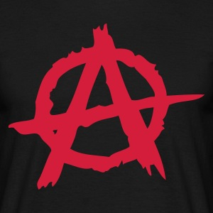 Zwart Anarchy T-shirts - Mannen T-shirt
