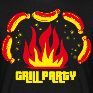 Grill Party Grillparty Grillmaster Grillmeister K - Männer T-Shirt