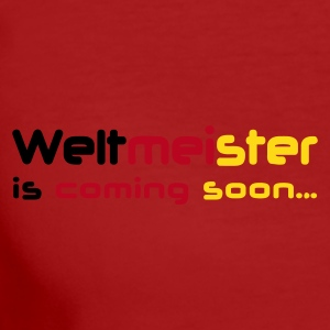 Lila Weltmeister is coming soon... T-Shirts - Frauen Bio-T-Shirt