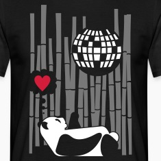 Black discopanda Men's T-Shirts