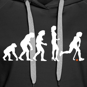 Schwarz evolution_hockey_woman_a_2c Pullover - Frauen Premium Hoodie