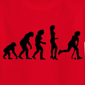 Rot evolution_hockey_woman_a_1c Kinder T-Shirts - Teenager T-Shirt
