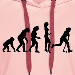 evolution_hockey_woman_a_1c Sweat-shirts - Sweat-shirt à capuche Premium pour femmes