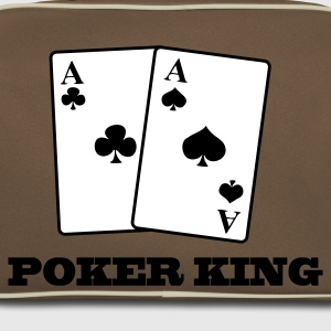 Brun/sand aces spades and clubs - poker king Väskor - Retroväska