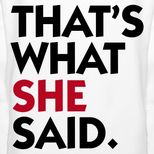 Hvid That's What She Said (2c) Sweatshirts - Dame Premium hættetrøje