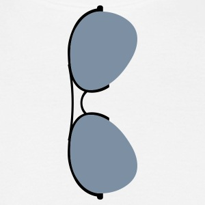 Hvid Aviator Sunglasses (2c) T-shirts - Herre-T-shirt