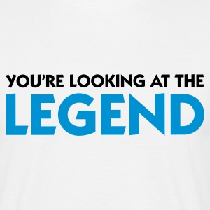Blanco Looking at the Legend (2c) Camisetas - Camiseta hombre