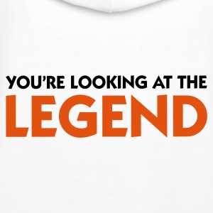 Blanco Looking at the Legend (2c) Sudadera - Sudadera con capucha premium para mujer